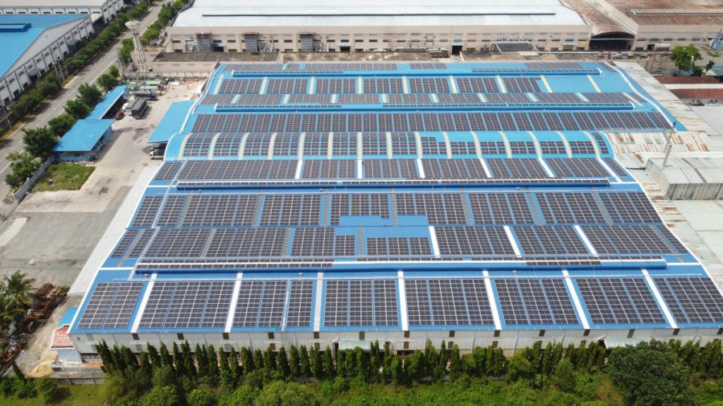 Solaranlage für Dong Nam Viet Packaging.