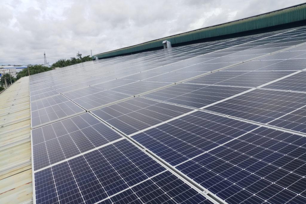Tấm pin mặt trời tại Cao su Thái Dương