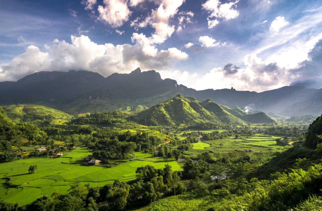 Landschaft in Vietnam