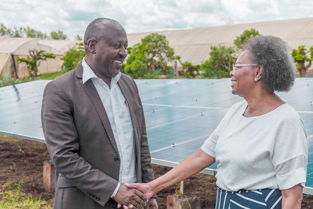Kunden einer Solaranlage