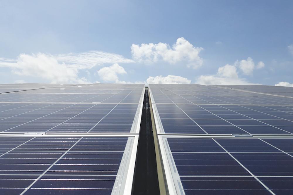 Các tấm pin mặt trời tại Ngân hàng Stanbic
