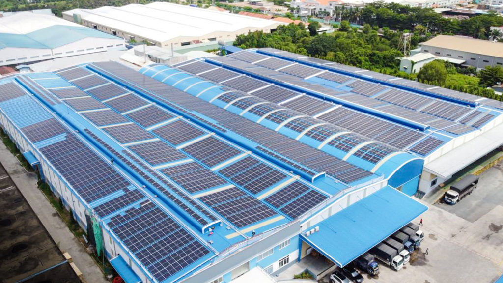 Solar plant at Dong Nam Viet Packaging