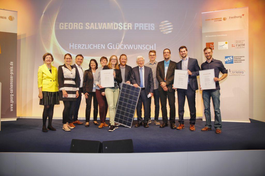 ecoligo winning the Georg Salvamoser Award.