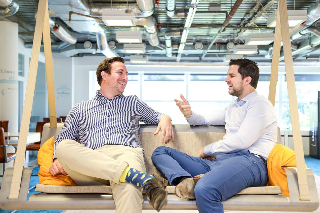 Người sáng lập ecoligo, Giám đốc điều hành Martin Baart và Giám đốc tài chính Markus Schwaninger
