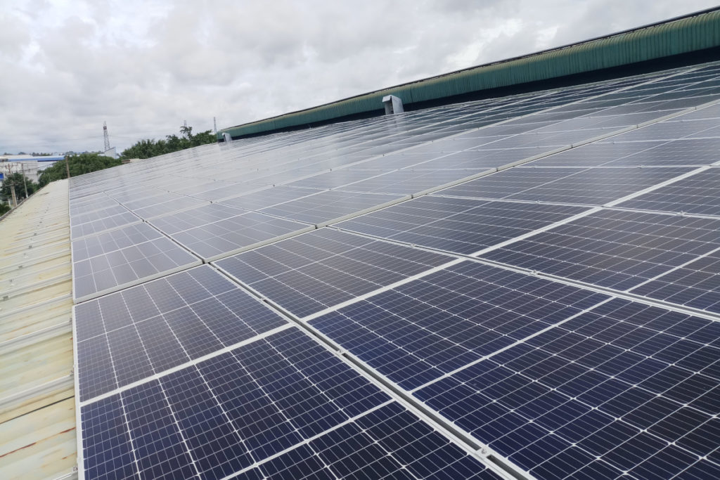 Solar panels at Thai Duong Rubber