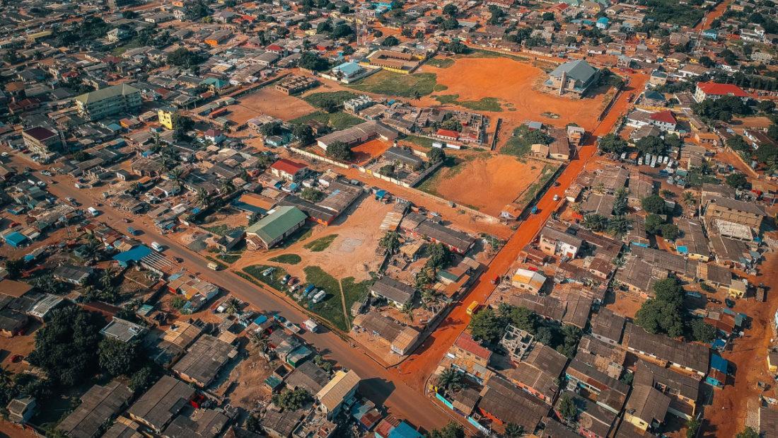 Vista aérea de Accra, Ghana