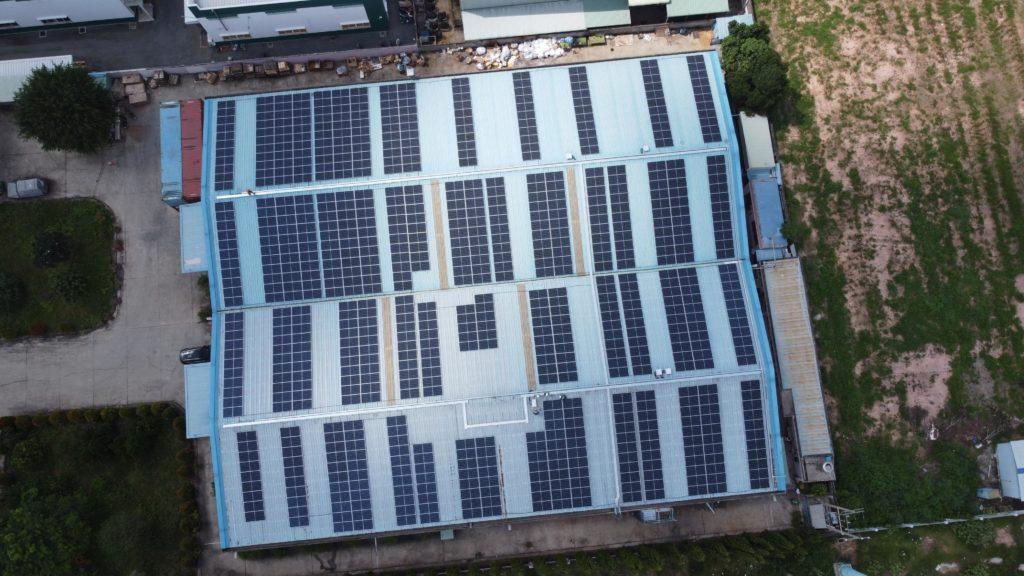 Hệ thống năng lượng mặt trời tại Viet Air Filters