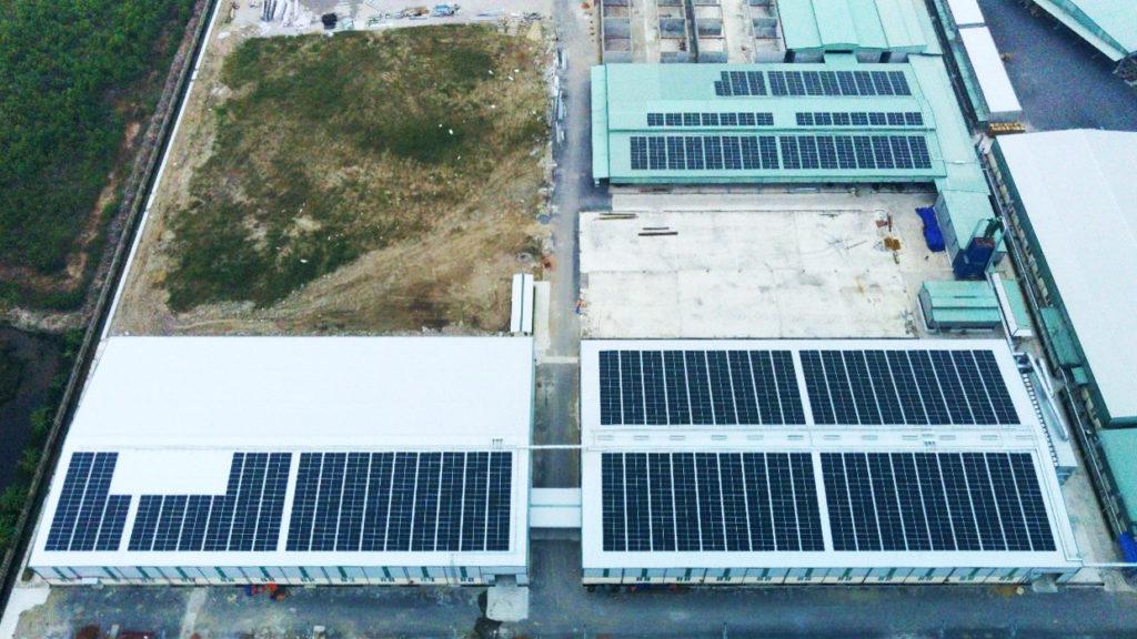 Solar plant at Nam Dinh Forest
