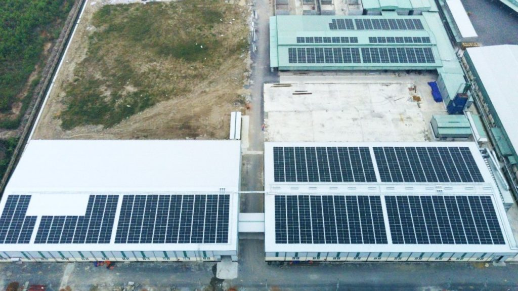 1,134 kWp solar installation Nam Dinh Forest.